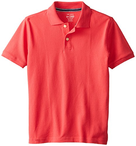 The Children's Place Big Boys' Short Sleeve Polo, Socal Coral, Large/10/12