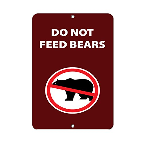 Do Not Feed Bears Activity Sign Park Signs Park Prohibition Aluminum METAL Sign 18 in x 24 in