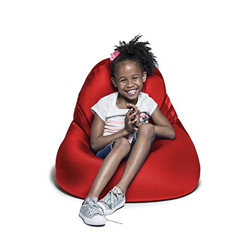 Jaxx Nimbus Spandex Bean Bag Chair for Kids, Cardinal - Cardinals Lounger