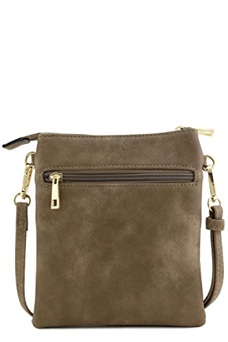 Functional Multi Pocket Crossbody Bag (Taupe) by Isabelle (Image #5)