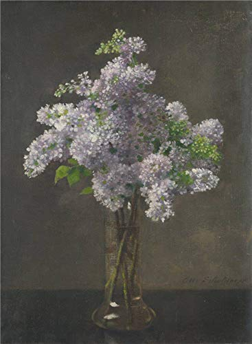 - 'Otto Franz Scholderer Lilac ' Oil Painting, 8 X 11 Inch / 20 X 28 Cm ,printed On Polyster Canvas ,this High Quality Art Decorative Prints On Canvas Is Perfectly Suitalbe For Home Theater Decor And Home Decor And Gifts