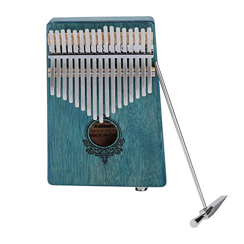 Kalimba 17 Keys Thumb Piano,Built-in pickup Portable Mahogany Wooden Body Musical Instrument(Mint Green) by Yosoo-