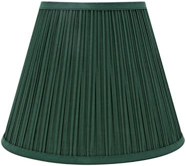Aspen Creative 33053 Transitional Pleated Empire Shaped Spider Construction Lamp Shade in Green, 13 Wide 7 x 13 x 10