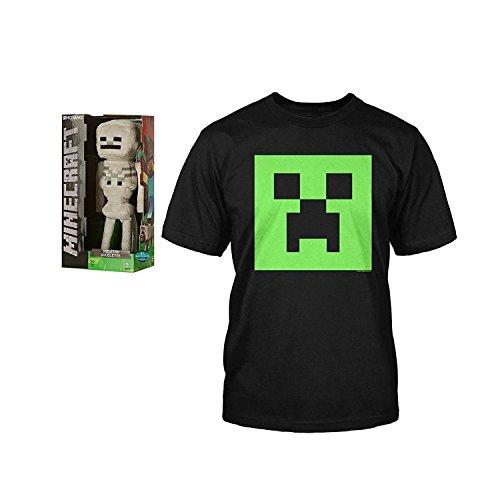 "Jinx Minecraft 12"" Skeleton Plush and Minecraft Creeper G..."