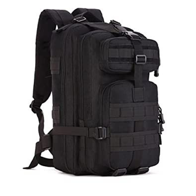 8a63a882277e Amazon.com  LightInTheBox Clearance Sale 30L Outdoor bag tactical bag  camping hiking multifunction men s backpack rucksack canvas bagHiking  (Black)  Shoes