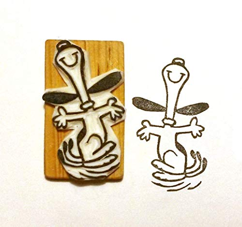 Snoopy Dance - Inspired by Peanuts - Hand carved rubber stamp -
