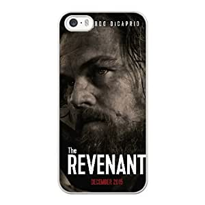 Wunatin Hard Case ,iPhone 5 5S Cell Phone Case White The Revenant [with Free Tempered Glass Screen Protector]5691265310307