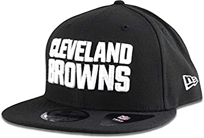 New Era Cleveland Browns Hat NFL Black White 9FIFTY Snapback Adjustable Cap Adult One Size