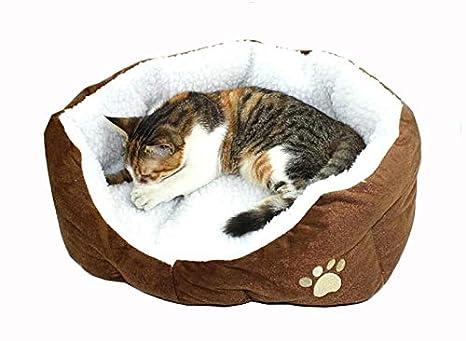 Westeng Casa para Mascotas Suave Cama de Perro De Sofa Perro Gato Patrón de Huellas de