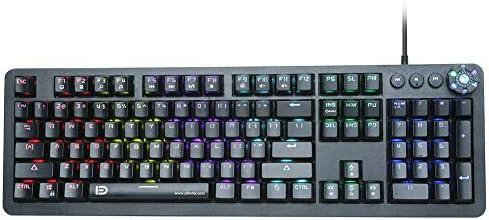 BHGFCGYUH USB English Mechanical Keyboard 104 Keys 3-Color Adjustable Backlight Splashproof Computer Game Keypads