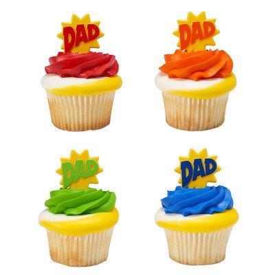 Father's Day DAD Burst Cupcake Picks - 24 pc