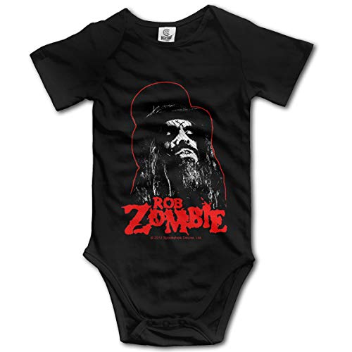 JohnBHaws Rob Zombie Fashion Round Neck Short Sleeve Baby Bodysuit Black 6M