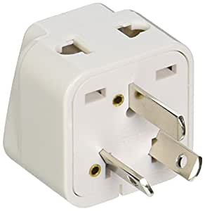 CKITZE BA-16AN Grounded Universal 2 in 1 Plug Adapter Type I for Australia, New Zealand & more - CE Certified