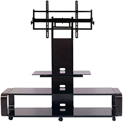 TransDeco TV Stand for 35-85 TV, Espresso Black