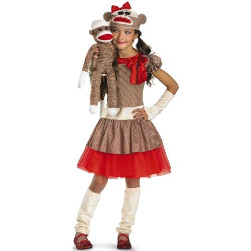 Sock Monkey Girl Kids Costume