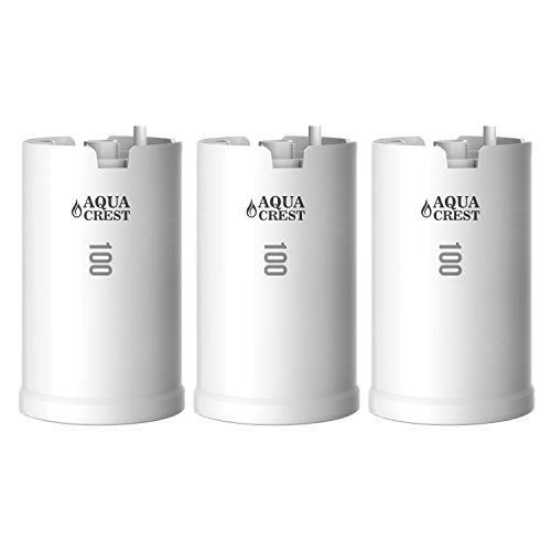 3 Pack AQUACREST WFFMC103X Replacement for DuPont WFFMC103X Ultra Protection & WFFMC100X High Protection 100-Gallon Faucet Mount Water Filtration Cartridge