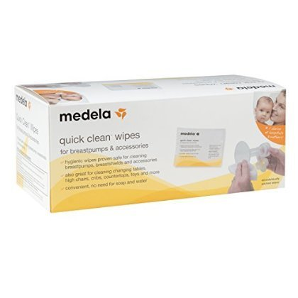 2 X Medela Quick Clean Breast Pump and Accessory Wipes