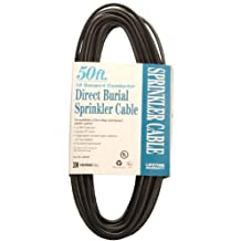 Coleman Cable 09638 18/4 50-Feet 18-Gauge 4-Conductor Solid Underground Sprinkler System Wire