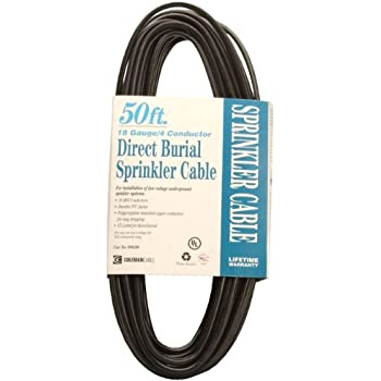 Coleman Cable 09638 18/4 Solid Underground Sprinkler System Wire, 18 ...