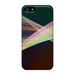 Premium Durable Colorful Lines Abstract Fashion Tpu Iphone 5/5s Protective Case Cover