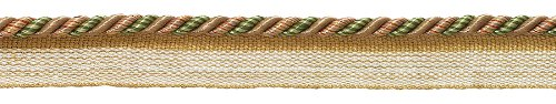 DecoPro 12 Yard Value Pack of Small Lt Bronze, Olive Green, Terracotta Baroque Collection 3/16