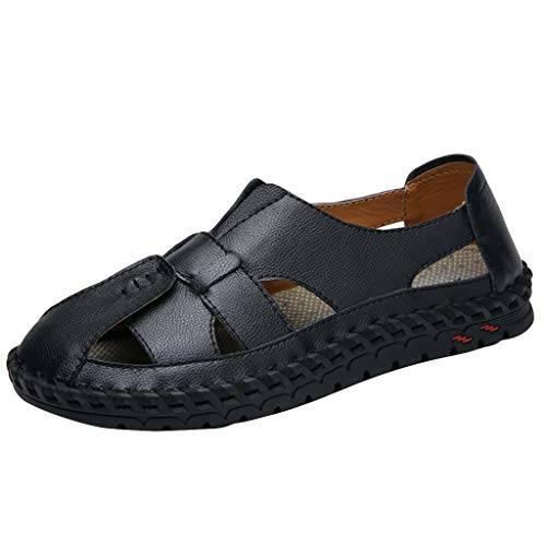 AopnHQ-Summer Men's Slippers Houses-Office Slippers-Mens Outdoor Sandals Leather Casual Loafers Size 6.5-10.5