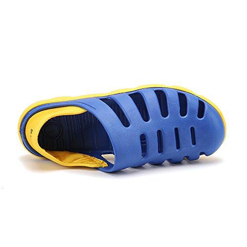 Enllerviid Uomo Quick Dry Water Shoes Slip On Sandali Da Spiaggia Garden Zoccoli Scarpe 1307 Blu