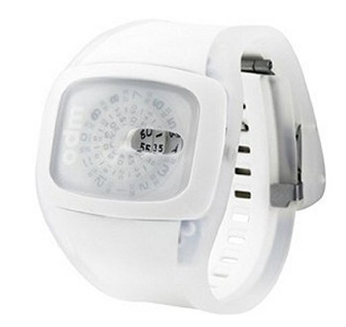 29b07c0c81bb ODM Spin - Reloj digital de mujer de cuarzo con correa de silicona blanca -  sumergible a 30 metros  Odm  Amazon.es  Relojes