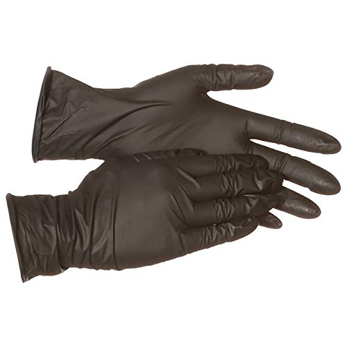 AmazonBasics Powder Free Disposable Nitrile Gloves, 6 mil, Black, Size XXL, 90 per Pack, 10-Pack by AmazonBasics (Image #6)