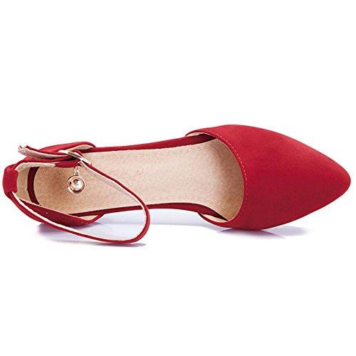 Zapatos Tobillo Correa Bombas de Red RAZAMAZA Mujer qaw77