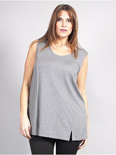 Vêtement Femme Grande Taille Tunique Unie Grise