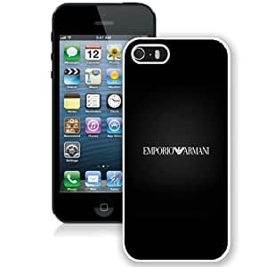 Emporio Armani Logo Iphone Wallpaper White Abstract Design Custom iPhone 5 5S Case