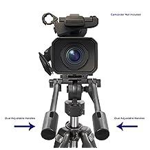 """Professional Dual Handle Aluminum 67"""" Tripod For Canon Powershot SX600 HS (Bubble Level)"""