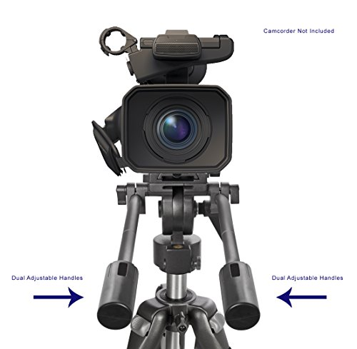 Professional Dual Handle Aluminum 67'' Tripod For Sony HXR-MC2500 (Bubble Level) by Digital Nc