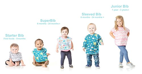 Bumkins Baby Bib, Waterproof SuperBib 3 Pack, N16 (Feather/Quill/Arrow) (6-24 Months) by Bumkins (Image #9)