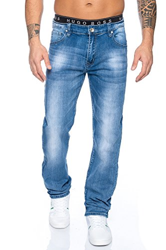 Herren Jeans Hose Straight Fit ID491