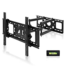 """SIMBR TV Wall Mount Bracket for most 17-72 """" LED, LCD, Plasma Flat Screen TV,up to VESA 600x400mm and 132lbs with Full Motion 22 inch Articulating Arm"""