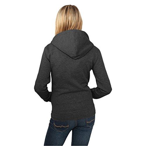 MTTROLI - Sudadera con capucha - para mujer gris oscuro