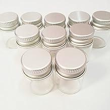 20pcs Sample Vials Clear Glass Bottles with Aluminum Caps Jars Small Bottle 5ml
