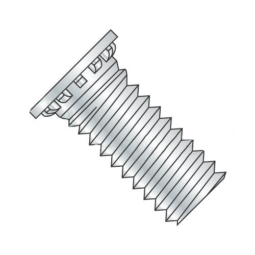 M6-1.0 x 24 mm Self Clinching Studs/Steel/Zinc (Carton: 1,250 pcs) by Newport Fasteners