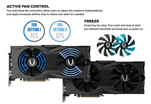 ZOTAC GAMING GeForce RTX 2080 SUPER AMP 8GB GDDR6 256-bit 15.5Gbps Gaming Graphics Card, IceStorm 2.0, Strong Overclock, Freeze Fan Stop, PowerBoost, Spectra Lighting, 16+4 Power Phase ZT-T20820D-10P