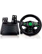 GOGORHEA 4 in 1 Gaming Steering Wheel with Pedals 180 ° Rotation for XB 360/PS3/PS2/PC