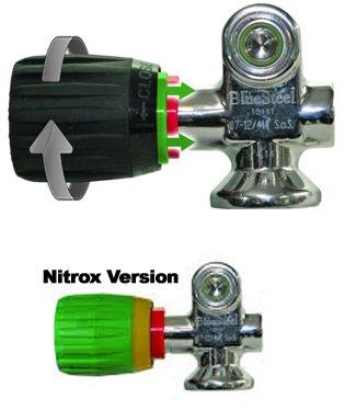 The Vindicator Visual Safety Tank Valve Air On/Off Color Indicator For Scuba Diving Cylinder (Model 2 Black)