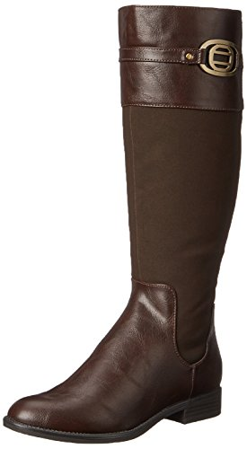 Buckle Dark Chocolate (LifeStride Women's Ravish Riding Boot, Dark Chocolate, 7.5 W)
