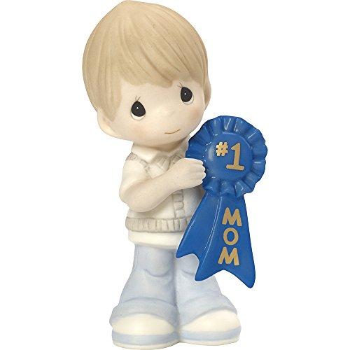 Precious Moments, 1 Mom, Bisque Porcelain Figurine, Boy, 164003