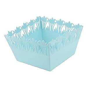 uxcell Home Office DIY Storage Box Case Organizer Holder 20 x 20 x 13cm Blue