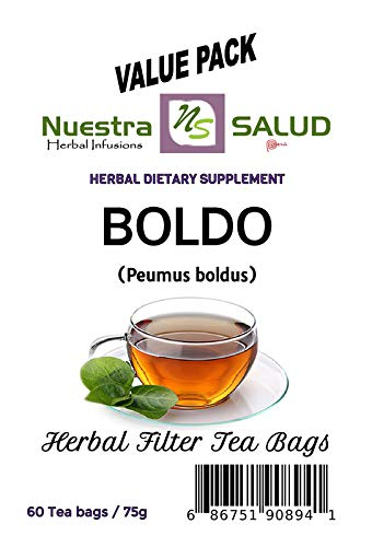 Boldo Herbal Filter Tea Value pack (60 tea Bags)