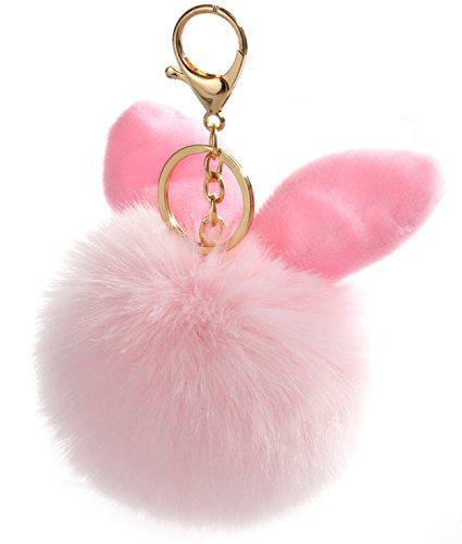 Keychains Soft Cool Keychains Fur Pom Pom Keychain Bag Pendant Keyring