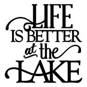 Life Is Better At The Lake Fishing Camping Vinyl Decal Sticker|BLACK|Cars Trucks SUV Laptops Boats Kayak Tool Box Wall Art|5.5