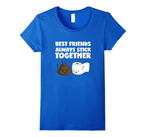 Women's Poop and Toilet Paper Funny T Shirt Best Friends ...